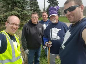 Custom Alarm Purple Team  Doing the Litter Bit Better Clean-up In Rochester MN