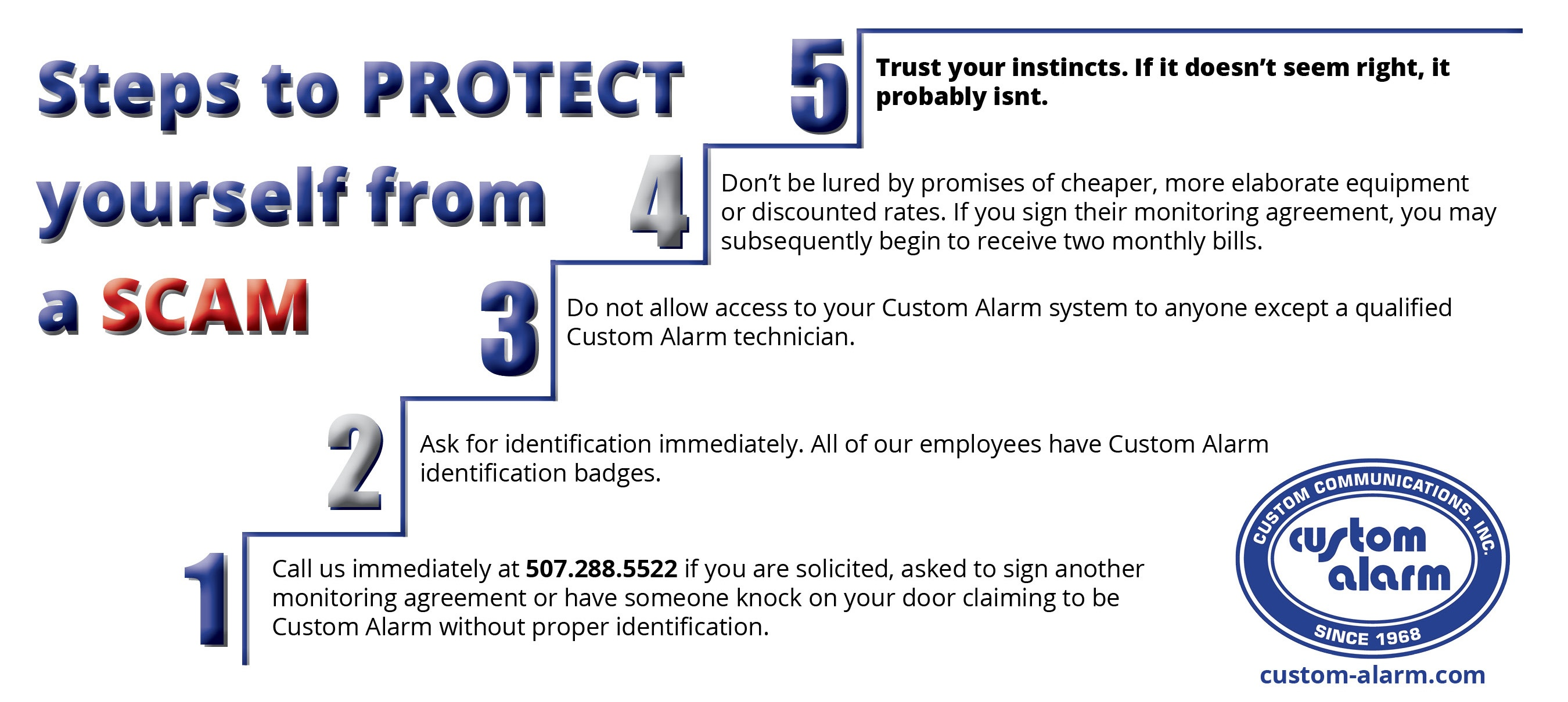 Steps to protect from scam
