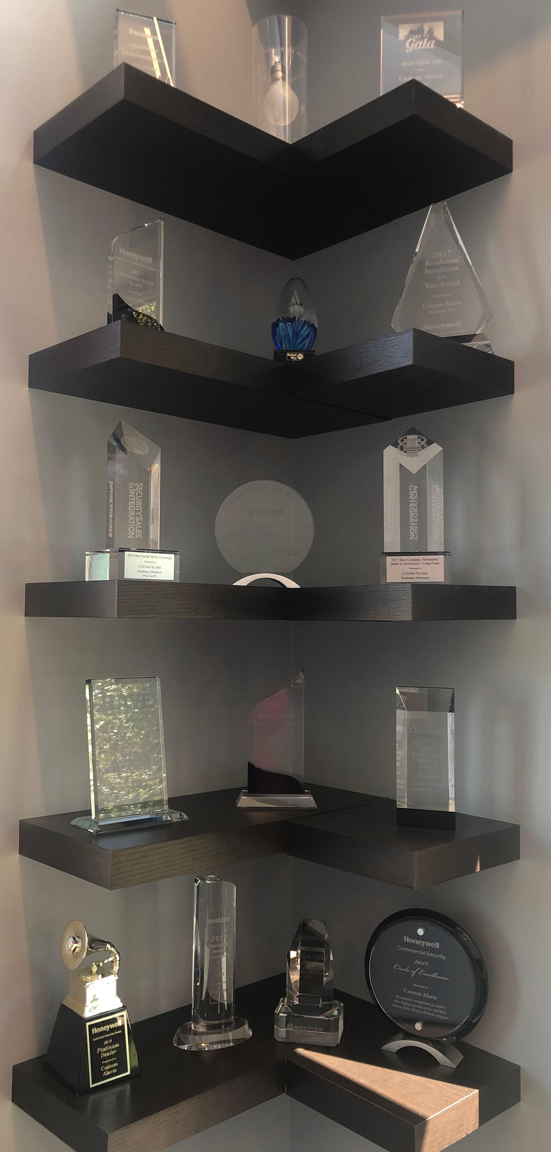 Awards shelf