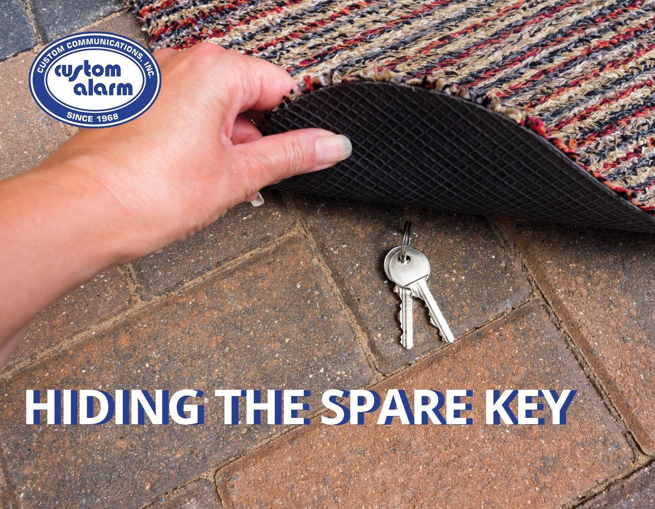 hiding the spare key